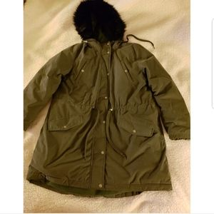 Old Navy Green Parka Down Puffer Coat